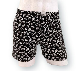 Boxershort Notenmotive (M)