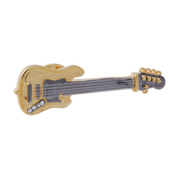 Pin E-Bass (vergoldet)