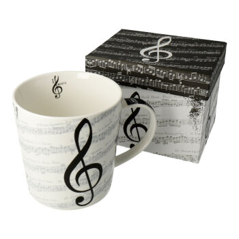 Tasse I love Music im Used-Look in Geschenkbox