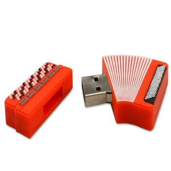 USB Stick Akkordeon rot 8 GB