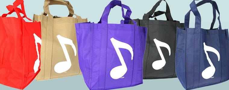 Farbenfrohe Einkaufstaschen