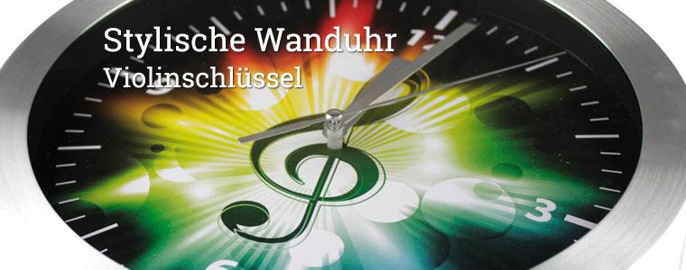 Wanduhr Violinschl�ssel